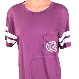 PINK Victoria's Secret Tops - VS Pink Varsity T-Shirt Size Small